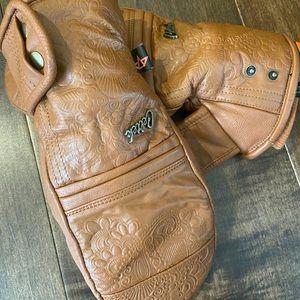 Celtek Leather Ski/Snowboard Leather Mittens NWOT